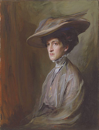 Margot Asquith - Margot Asquith, Countess of Oxford and Asquith, painting by Philip de László.