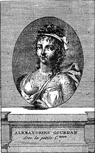 Marguerite Gourdan - 18th century engraving of Marguerite Gourdan
