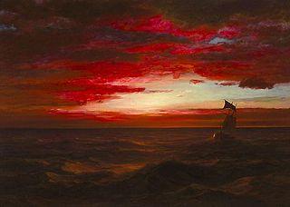 Marine, coucher de soleil