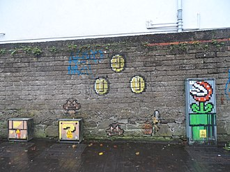 Super Mario Bros. - Graffiti in Cork, Ireland inspired by Super Mario Bros.