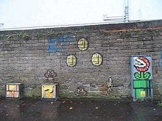 Super Mario Bros. - Graffiti in Cork, Ireland inspired by Super Mario Bros.