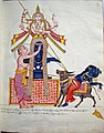 Markandeya, ensnared by Yama's pasha (noose), embraces a tall garlanded and bejewelled mukhalinga (a linga with a face)..jpg