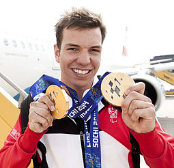 Markus Salcher at Vienna International Airport after returning from the Winter Olympics in Sochi 1.jpg