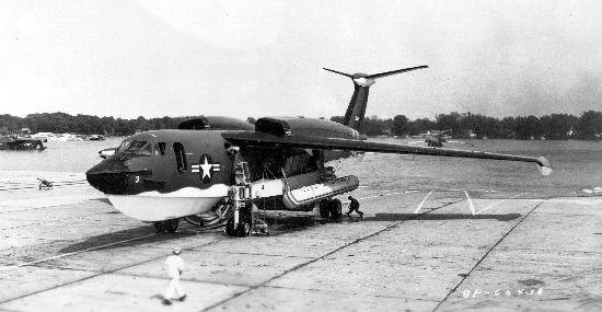 Martin P6M-2 SeaMaster on ramp
