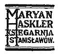 Maryan Haskler Księgarnia Stanisławów logo.jpg