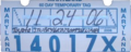 Maryland temporary tag, Toyota (November 2006).png
