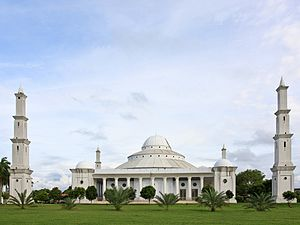 Akbar At-Taqwa Grand Mosque - View from the park