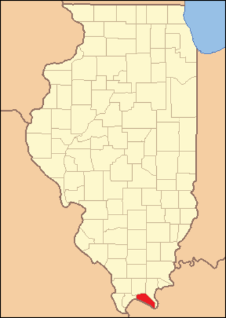Massac County, Illinois - Image: Massac County Illinois 1843