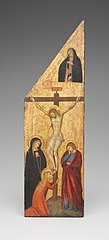 Crucifixion and the Virgin Annunciate