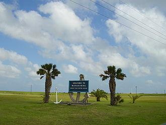 Matagorda, Texas - Sign indicating Matagorda