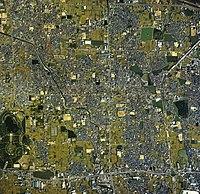 Matsubara city center area Aerial photograph.1985.jpg