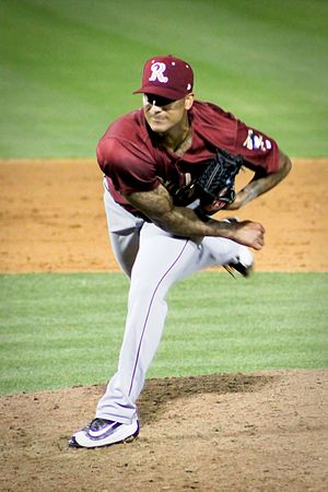 Matt Bush (baseball) - Image: Matt Bush Frisco Rough Riders May 2016