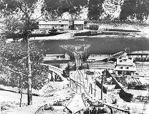 Mauch Chunk Switchback Railway - Image: Mauch Chunk and Summit Hill Switchback Railroad 1870