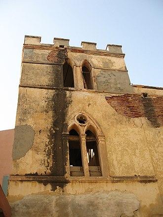Maurel & Prom - Former building of Maurel et Prom, at Saint-Louis, Senegal