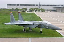 F-15 Eagle on display