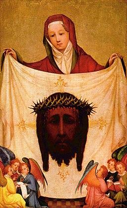 Meister der Heiligen Veronika - Hl. Veronika mit dem Schweißtuch Christi - Alte Pinakothek