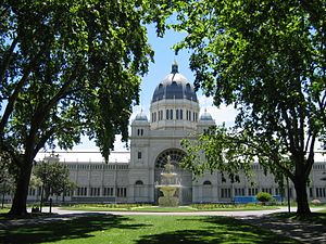 Carlton Gardens - Image: Melb CBN Exhibition Building 3