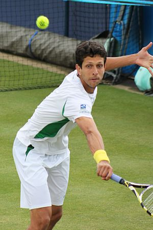Marcelo Melo - Marcelo Melo playing at grass