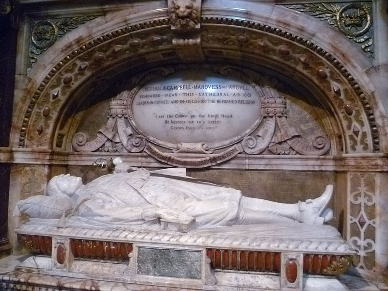 File:Memorial to Archibald Campbell, 1st Marquis of Argyll, St. Giles High Kirk Edinburgh.jpg