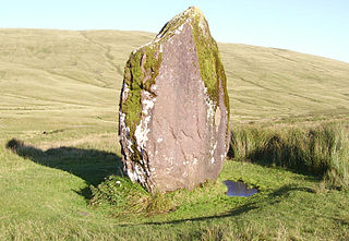 Maen Llia standing stone in the Brecon Beacons in Wales