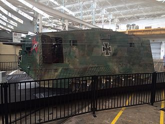 Mephisto (tank) - A7V Mephisto on display at The Workshops Rail Museum in Ipswich, Queensland, 2014