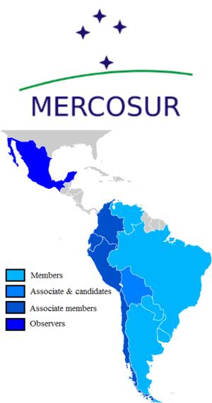 Trade bloc - Image: Mercosur Member states