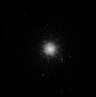 Sagittarius Dwarf Spheroidal Galaxy - Messier 54, believed to be at the core of Sgr dSph. Greyscale image created from the HST's Advanced Camera for Surveys