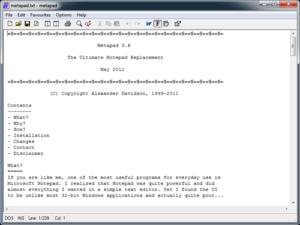 Metapad - Image: Metapad 3.6 screenshot
