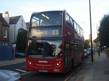 Metroline West TE1733 on Route E3, Chiswick.jpg