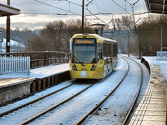 Bury Line - A M5000 at Radcliffe tram stop.