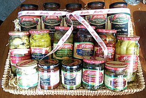 Mezzetta - A gift basket of various Mezzetta products