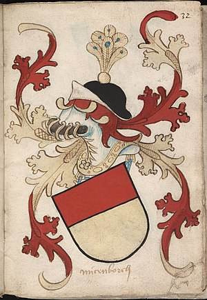 Münzenberg Castle - Coat of arms of Münzenberg (ca. 1490)