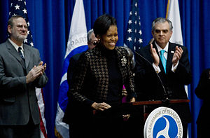 Michelle LaVaughn Robinson Obama (born January 17, 1964) is the wife