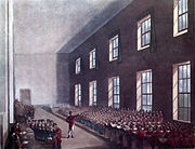 Microcosm of London Plate 099 - Military College, Chelsea (tone)
