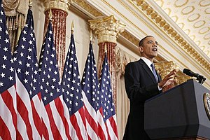 President Barack Obama delivers a policy addre...