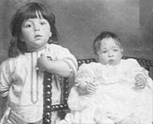 Millvina Dean - Millvina (right) and Bertram