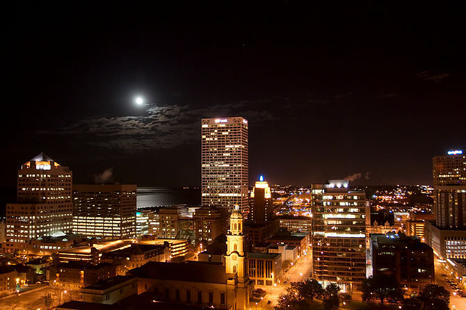 A view of downtown Milwaukee, Wisconsin