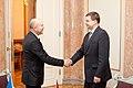 Ministru prezidents Valdis Dombrovskis tiekas ar Čehijas vēstnieku Pavolu Šepelāku (6720276529).jpg