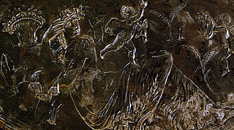 Missorium of Theodosius I - Reclining Terra, the Roman goddess of Mother Earth.