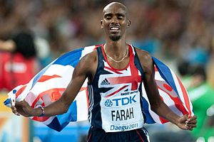 Sport in the United Kingdom - Mo Farah in 2011