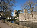 Moat, bastion and cathedral, Wells - geograph.org.uk - 1752869.jpg