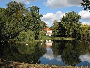 Albrecht Thaer - Park and manor house in Möglin in Brandenburg, Germany