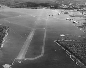 1947 Fort Lauderdale hurricane - Moisant Airport flooded