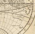 Moll - A map of the world shewing the course of Mr Dampiers voyage round it from 1679 to 1691 (cropped) - New Holland - Dimens Land.png