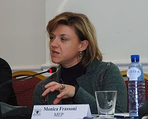 Green MEP Monica Frassoni speaking at the Euro...