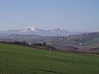 Monte Catria - Visto da Ripalta di Arcevia.JPG