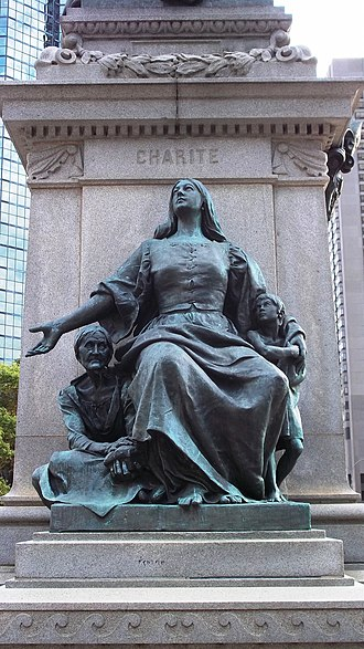 Ignace Bourget Monument - Charity