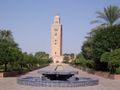 MoroccoMarrakech Koutoubia mosqueFromGarden.jpg
