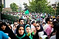 Mousavi supporters, Iranian presidential election 2009.jpg