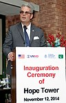 Mr Zachary Harkenrider, US Consul General in Lahore, speaking at the inauguration. (15748348296).jpg